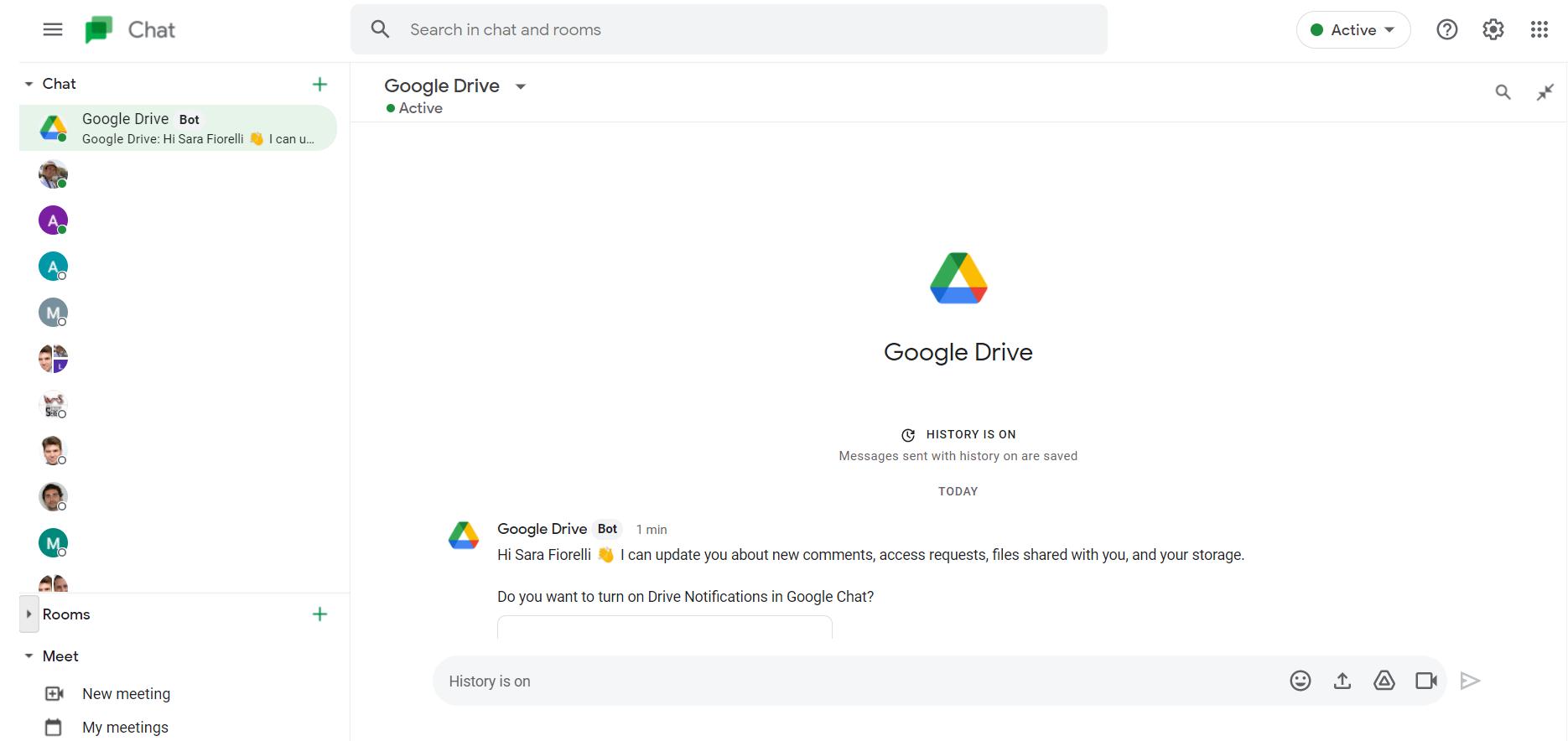 adding Google Drive bot